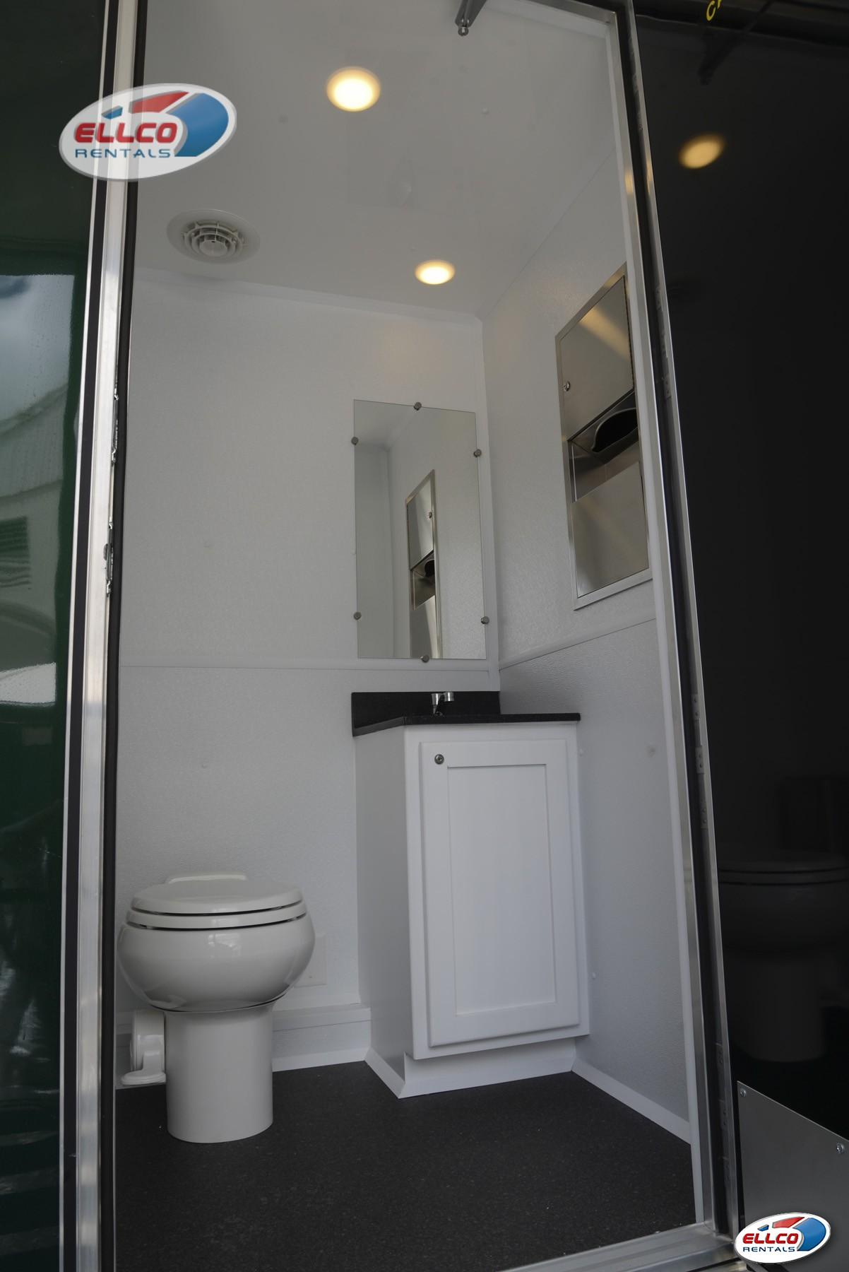 Reveller Restroom Trailer In Portable Sanitation At Ellco Rentals - Bathroom rentals for weddings