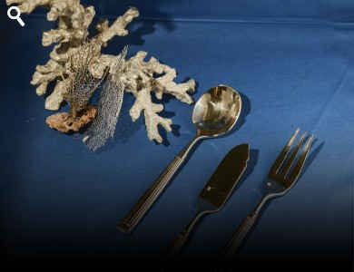 Cutlery Grecian  Fish Fork, Fish Knife, Soup Spoon,
