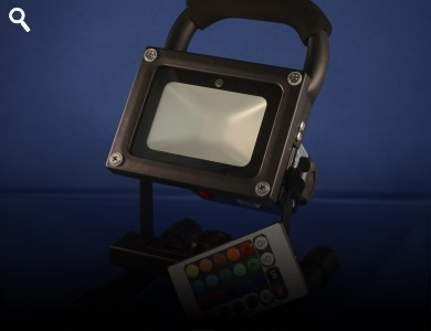 Mini Led Floodlight Wash Remote Control Various Colours