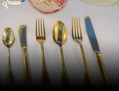 Cutlery Gold Set