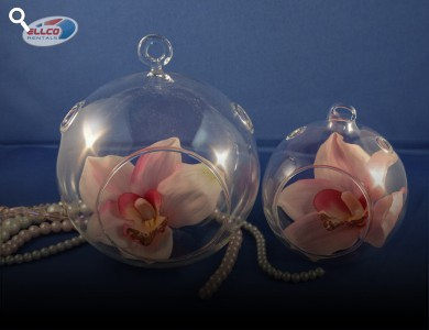 "Hanging Glass Orbs Available 4.5"", 6"""