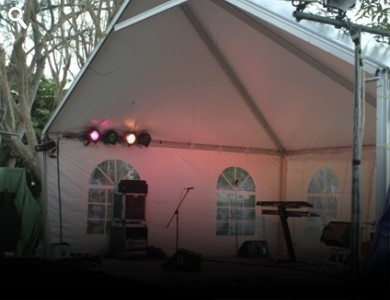 Expandable Stage Cover Tents Or Bandshells